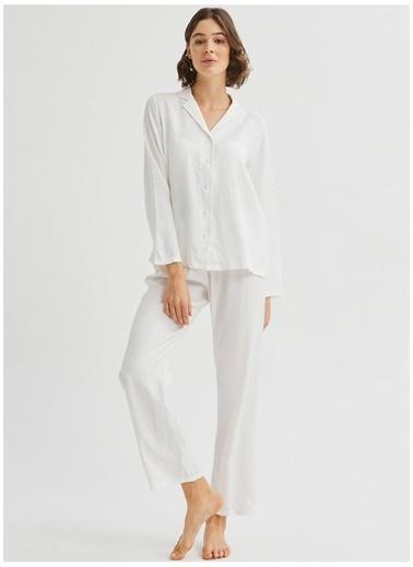 Penti Penti Bridal Blanche Ls Pijama Takımı Beyaz